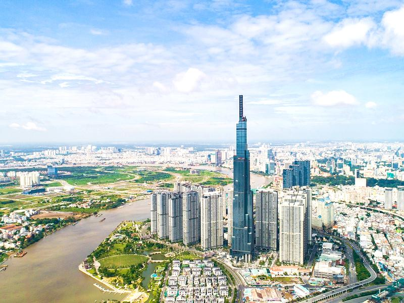Khu vực nào thuộc khu trung tâm lõi đô thị TP.HCM (khu 930ha) được xây cao nhất?
